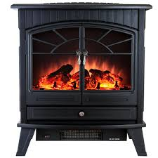 Realistic Electric Fireplace Logs by Electric Stove Heaters Freestanding Stoves The Home Depot