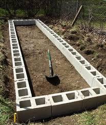 diy raised garden beds with cinder blocks diy cozy home