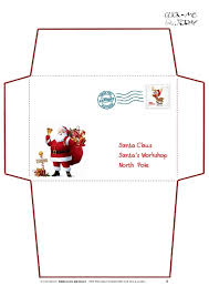 envelope templates free santa envelope template expin franklinfire co