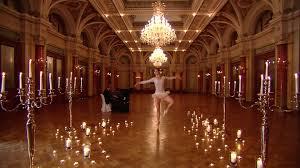 Ballerina Chandelier Ballroom Ballet Staging Switzerland Hd Stock Video 835 642