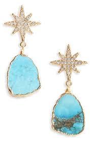 turquoise drop earrings serefina pavé turquoise drop earrings nordstrom