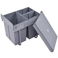 mülltrennsystem küche costway einbaueimer abfallsammler küchen abfalleimer mülleimer