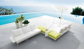 Beautiful Outdoor Living Furniture Home Designing - White outdoor sofa