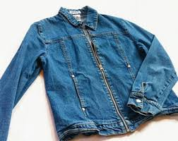 vintage classic casual light jacket fitted denim jacket etsy