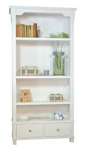 country white solid wood bookcase with two drawers home sweet