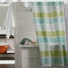 Blue And Green Shower Curtains Seersucker Stripe Blue Green Threshold Fabric Shower Curtain