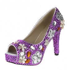 wedding shoes purple velcans velcans women s purple rhinestone