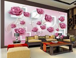 pink wallpaper for walls 3d wallpaper for room 3d three dimensional hand painted flower vine