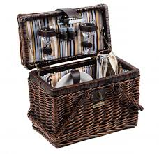 picnic basket for 2 and beyond willow picnic basket for 2 brown