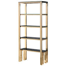Gold Room Divider Bookcase Open Bookcase Glass Shelves Room Divider White