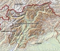 Lombardy Free Map Free Blank by Trentino South Tyrol Physical Map