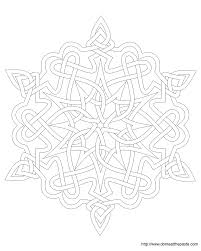mandala snowflakes coloring pages coloring pages