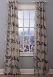 Shower Curtains With Birds Emdee International Linen Bird Drapery Panel Loft Collection