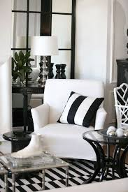 Striped Living Room Chair Black White Striped Living Room Home Pinterest Interiors