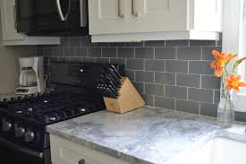glass subway tile kitchen backsplash pebble gray 3x6 glass subway tiles rocky point tile glass and