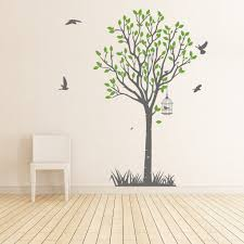 life size tree wall sticker with bird cage decal vinyl impression life size tree wall sticker in by vinyl impression