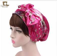 bow hair new satin bow headscarf comfortable sleeping bonnet curly hair