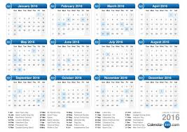 free printable 2016 calendar with holidays best 2017