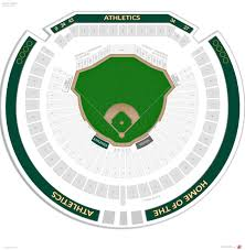 Diamondbacks Stadium Map Oakland Athletics Seating Guide Oakland Coliseum Rateyourseats Com