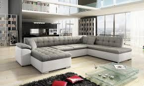 Corner Sofa In Living Room - scafati fabric corner sofa bed with in black grey or white grey