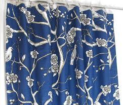 navy blue curtains custom bird theme curtain panels blue