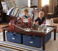activity table with storage activity table and canvas cart pottery barn kids