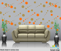 new products decal rocket online store custom decal stickers to metallic gold and orange circle polka dot wall decal stickers