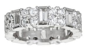 the goods wedding band cubic zirconia wedding band groupon goods