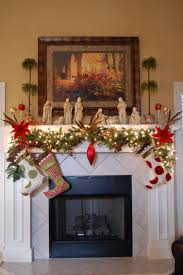 Mantel Fireplace Decorating Ideas - robust green garland as wells as mantel surround in living room