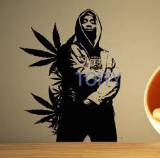 aliexpress com buy 2pac wall sticker tupac vinyl decal big rap