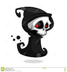 grim reaper cartoon character isolated on a white background