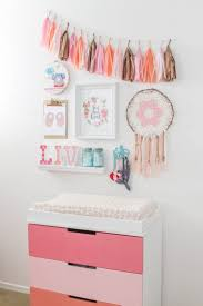 Decor Baby by Design Reveal Boho Chic Nursery Pink Dresser Nurseries