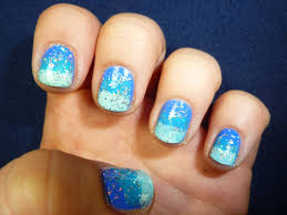 starryeyedglamour blue ombre nails for summer easy nail tutorial u003d