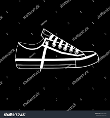 sports shoes logo sneakers black white stock vector 389054278