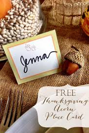 thanksgiving table place card free printable