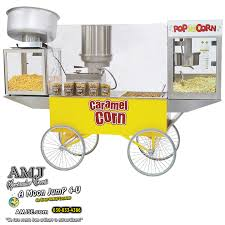 popcorn rental machine rent deluxe caramel cheese corn popcorn machine on cart in
