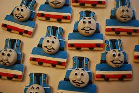 baking sheet thomas train cookies