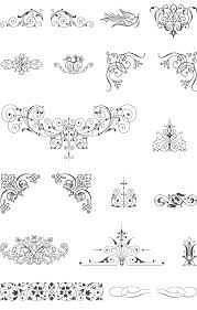 85 free vintage vector ornaments font flourishes design magic