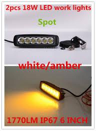Light Bar For Motorcycle Aliexpress Com Buy 2x6 U0027 U0027 Drl 10 30v 18w White Amber Spot Flood