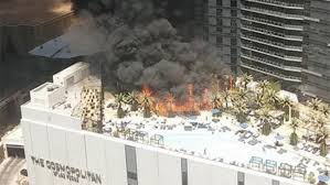 las vegas cosmopolitan hotel pool area fire rages hollywood reporter
