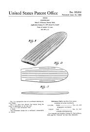 surfboard patent 1958 patent print wall decor beach house