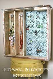 fussy monkey business old drawer turned jewelry organizer
