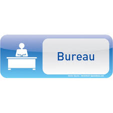 panneau de bureau plaque de porte bureau text icone direct signalétique