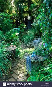 osmund decorated garden berkeley california ornaments stock