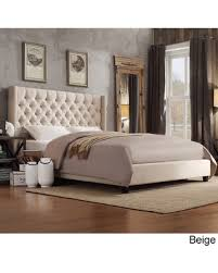 Upholstered Queen Bed Frame by On Sale Now 15 Off Signal Hills Naples Wingback Button Tufted