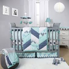 Gray Baby Crib Bedding The Peanut Shell Mosaic Crib Bedding Set Geometric Prints In