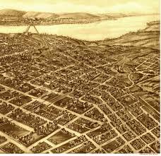 map of tulsa tulsa oklahoma in 1918 bird s eye view map aerial panorama