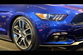 2015 model ford mustang deep impact blue metallic youtube