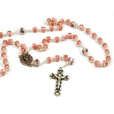pink rosary capped pink rosary true devotionals