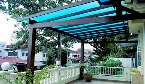 Roof Trellis Cover Backyard Pergola With Glazing Sheets Pergola Gazebos